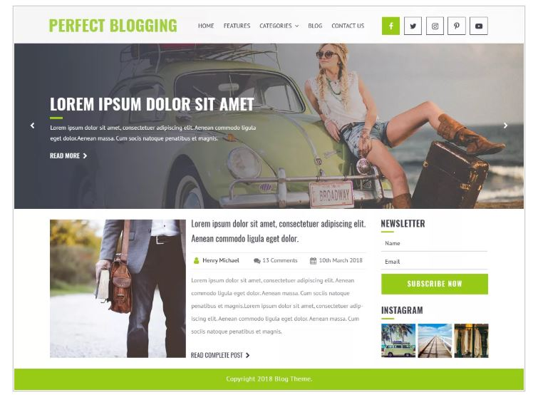 Perfect WordPress blogging theme