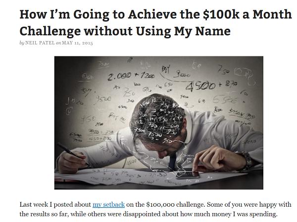 Neil blogging case study