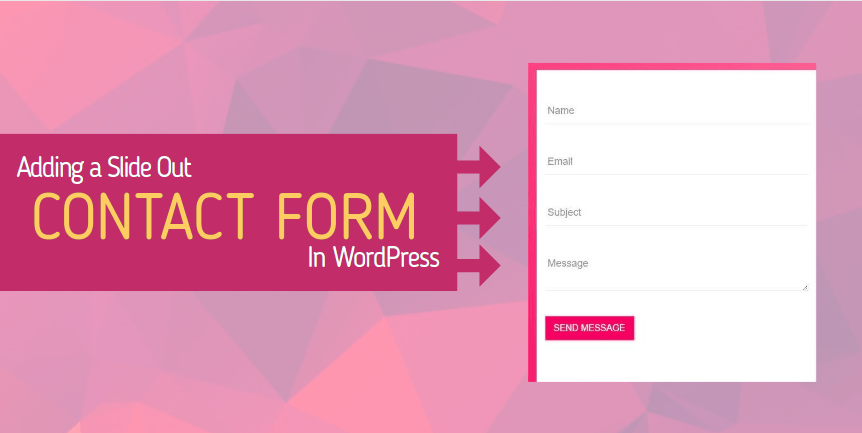 Slide Out Contact Form