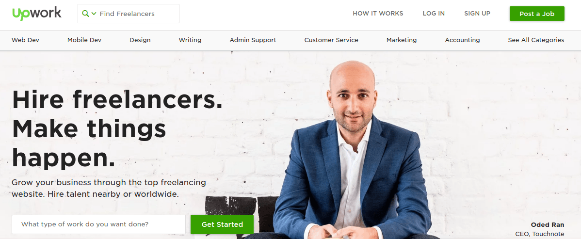 Upwork content witing
