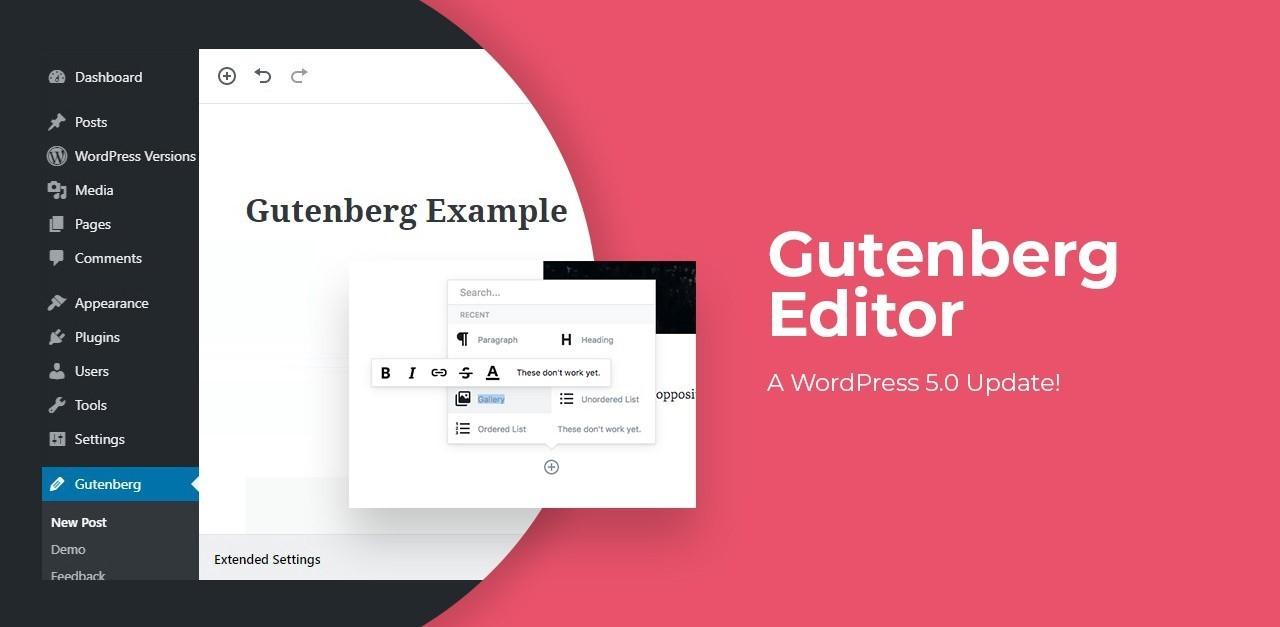 WordPress Gutenberg Editor Differs