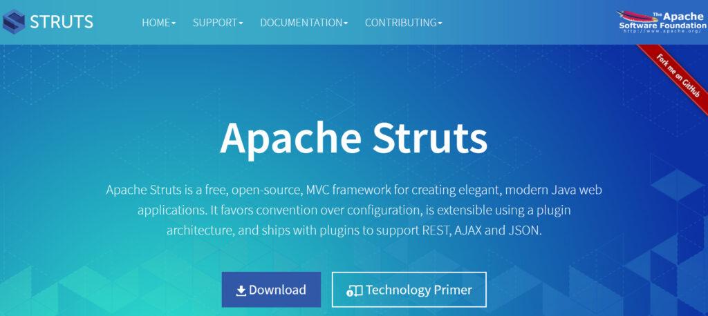 apache stuts, framework for java
