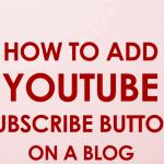 subscriber button to a blog
