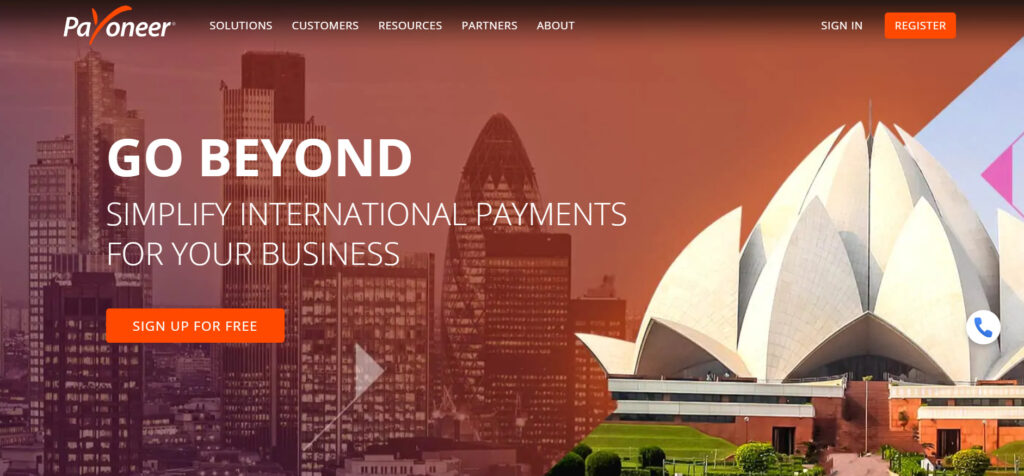 payoneer payment menthod