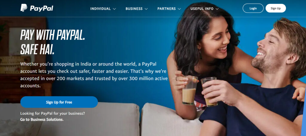 paypal payment method