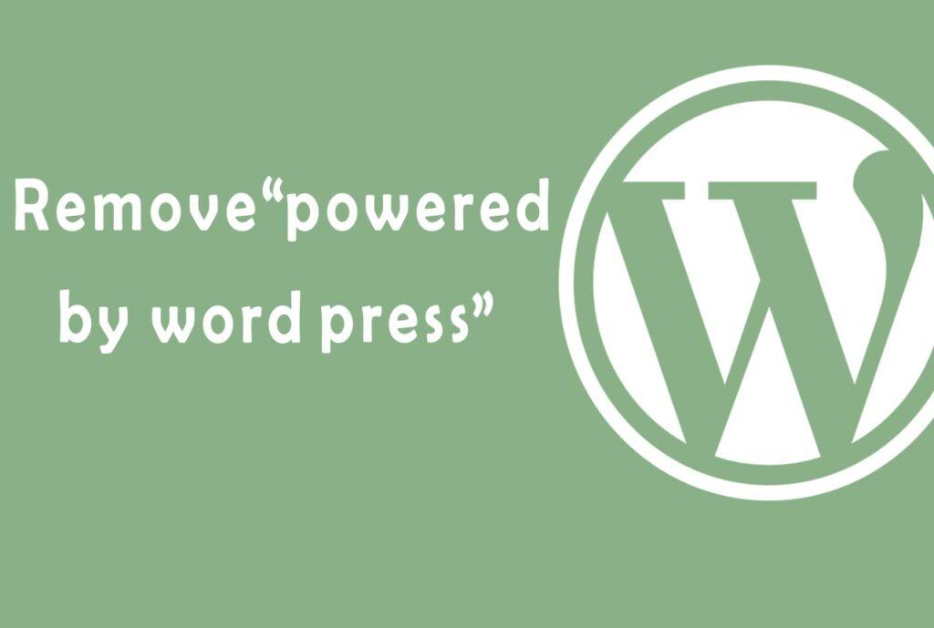 Remove Footer Credit in WordPress