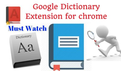 Free Best Google dictionary chrome extension