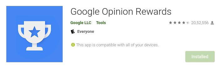 Google opnion rewards