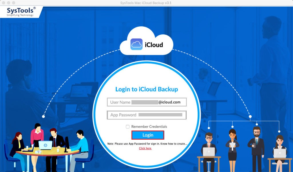iCloud Email Backup nach Outlook