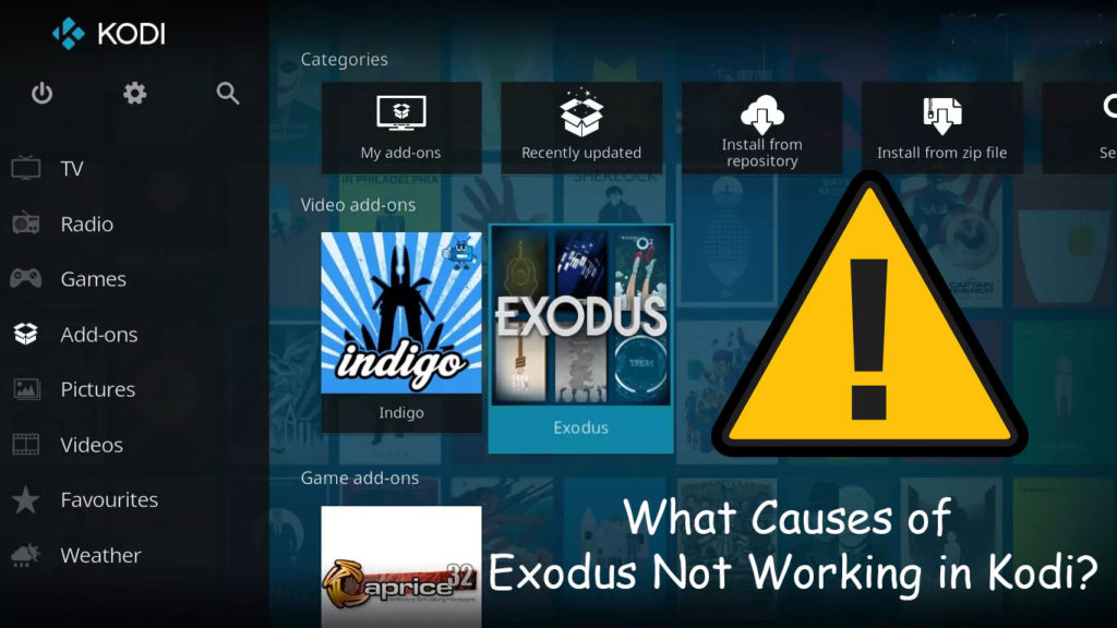 What Causes of Exodus Not Working in Kodi?