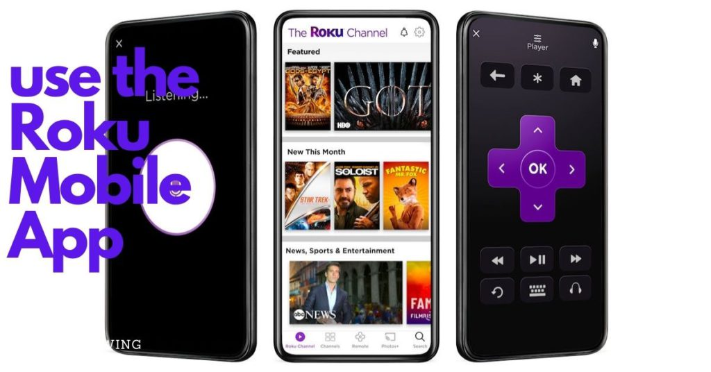 use the Roku Mobile App