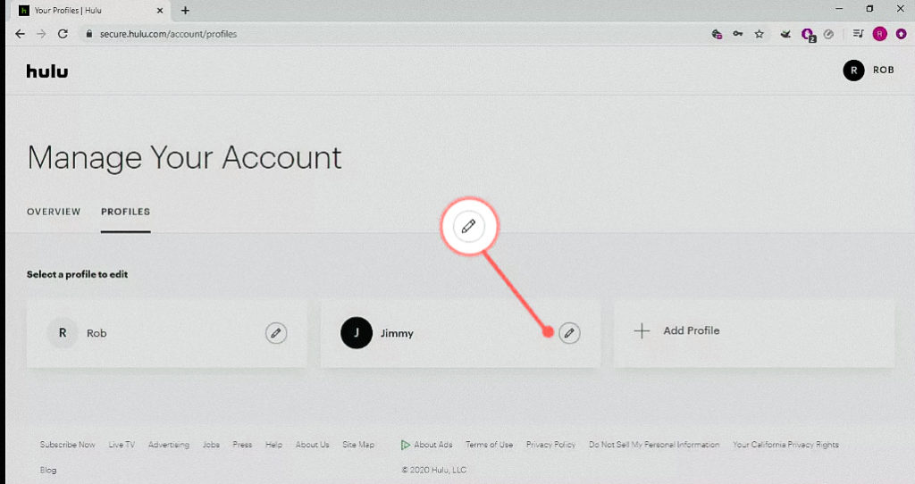 Managing your account on Hulu