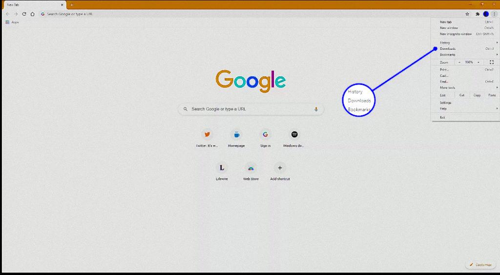 highlighting downloads option