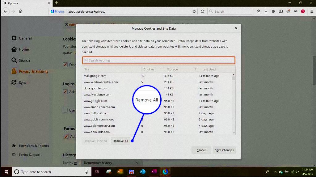 Remove all option to delete downloaded data in bulk