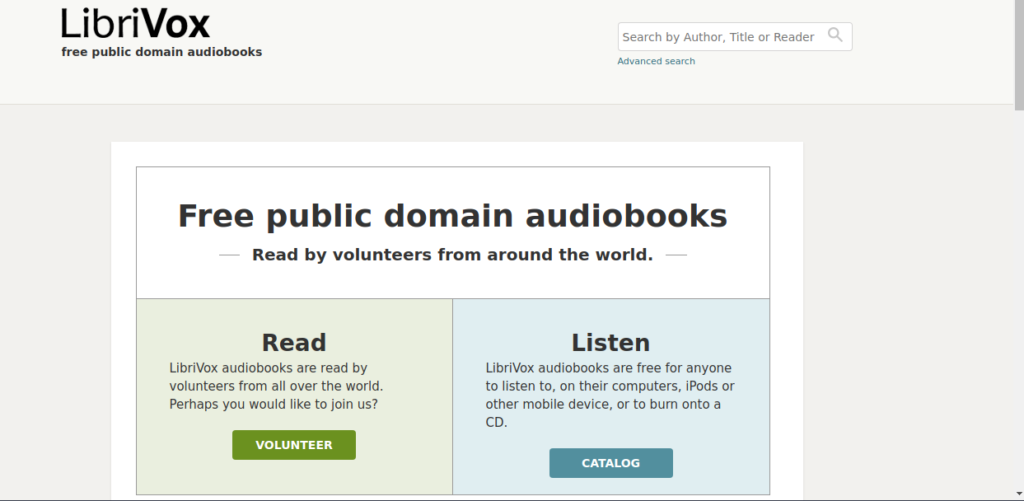 Libri Vox is a site used to download free books