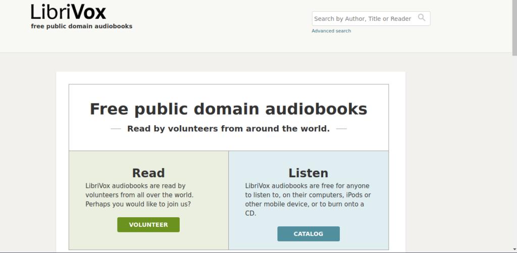 Libri Vox es un sitio web para descargar libros gratis