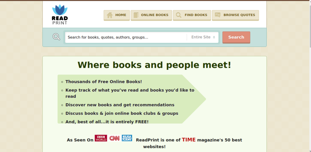 Read Print is a site used to download free books.