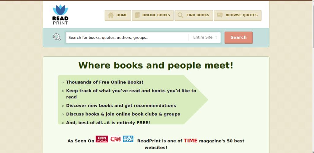 Read Print es un sitio web para descargar libros gratis.