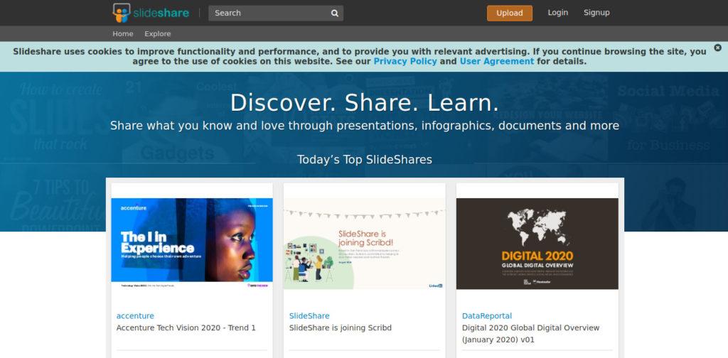 Slide Share es un sitio web para descargar libros gratis