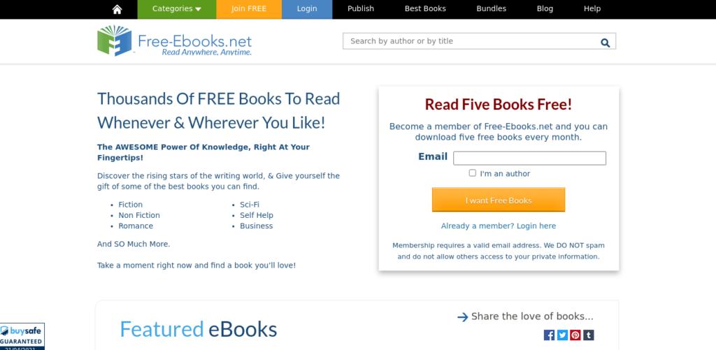 Free eBooks.net to download free books