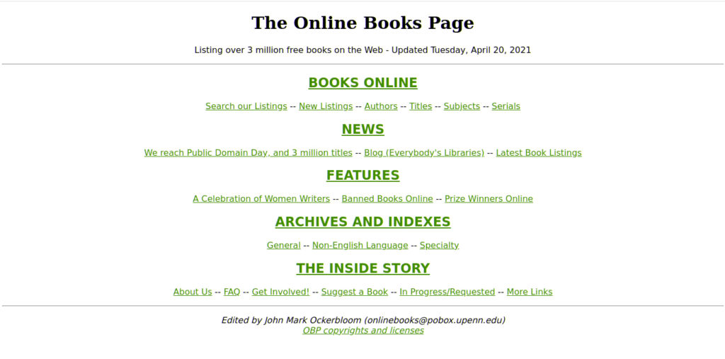 Outline Books Page