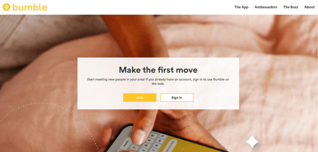 Bumble app helps you find best dating partners to go on dates and make friendship with others.