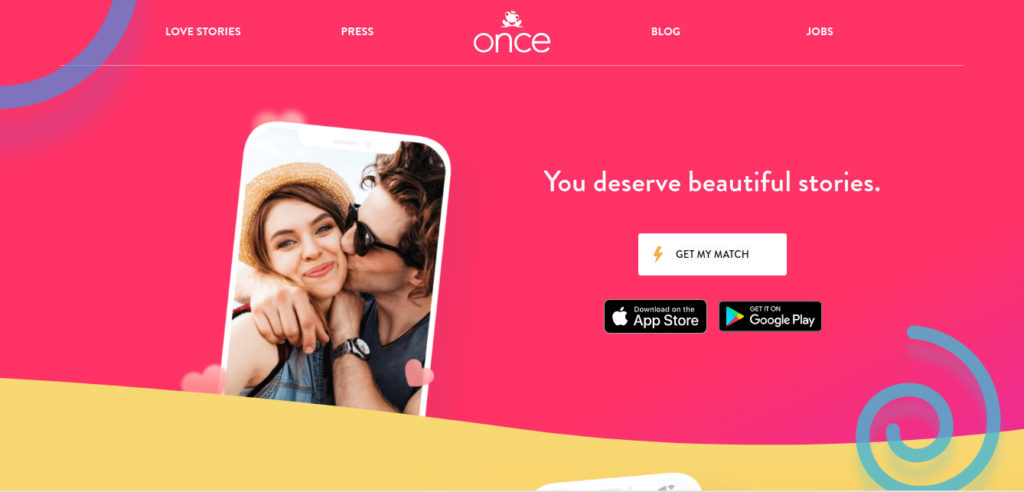 Once dating app that helps you in making bond in 24 hours with singles having same interests.