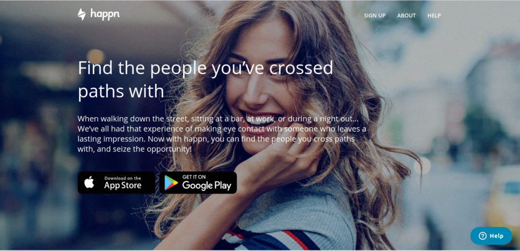 Happn dating app to find people you met before or nearby people.