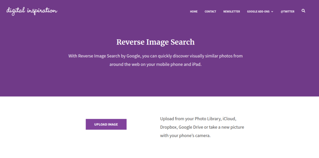 Reverse Image Search Tools